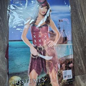 Woman costume pirate girl